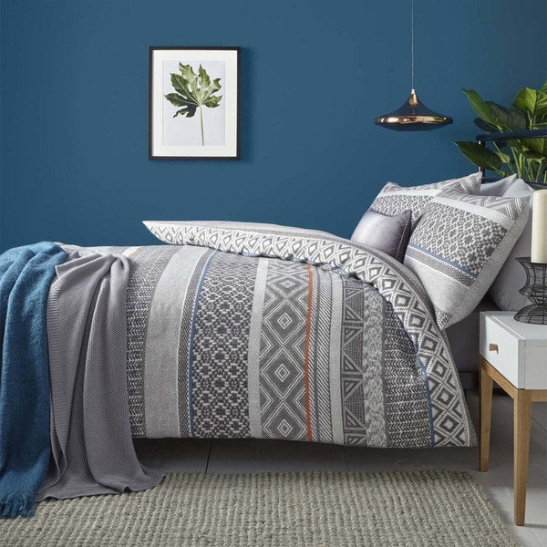 Kintyre Stripe Bedding Set Charcoal