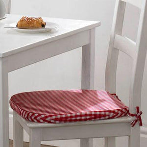 Gingham Value Seat Pad Red