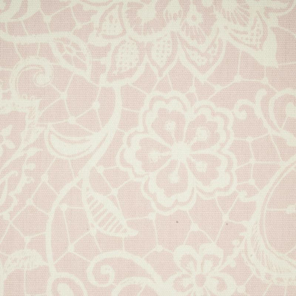 Lace Curtain Fabric Pink