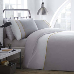 Racing Green Lawson Bedding Set White / Grey