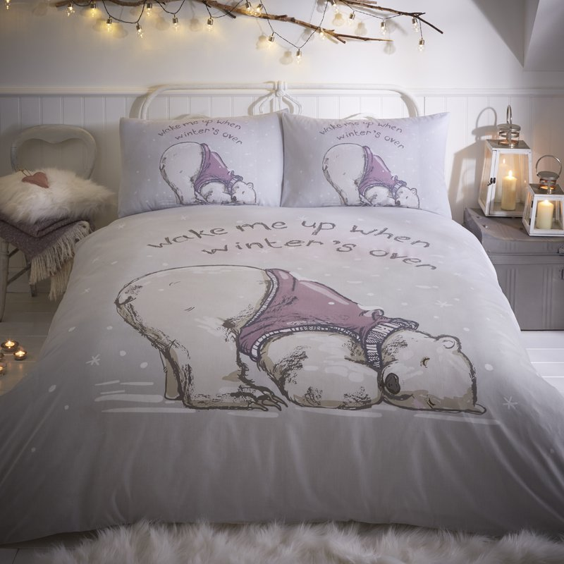 Portfolio Home Bedding Lazy Bear Bedding Set Grey Picture