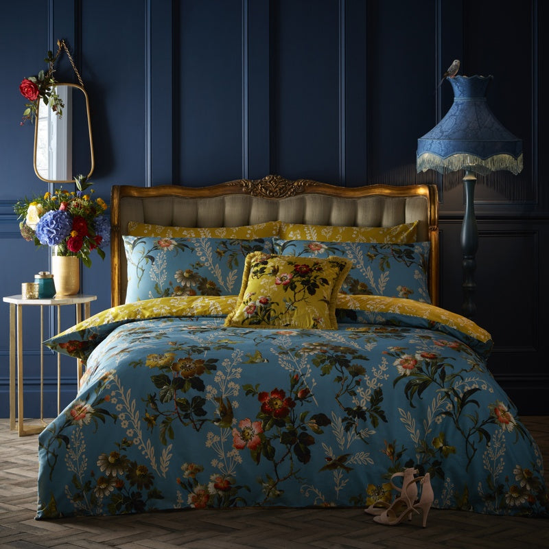 Clarke and Clarke Bedding Oasis - Leighton Bedding Collection Teal Multi Picture