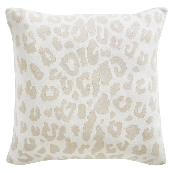 Tess Daly Leopard Knit Filled Cushion 50cm x 50cm Natural