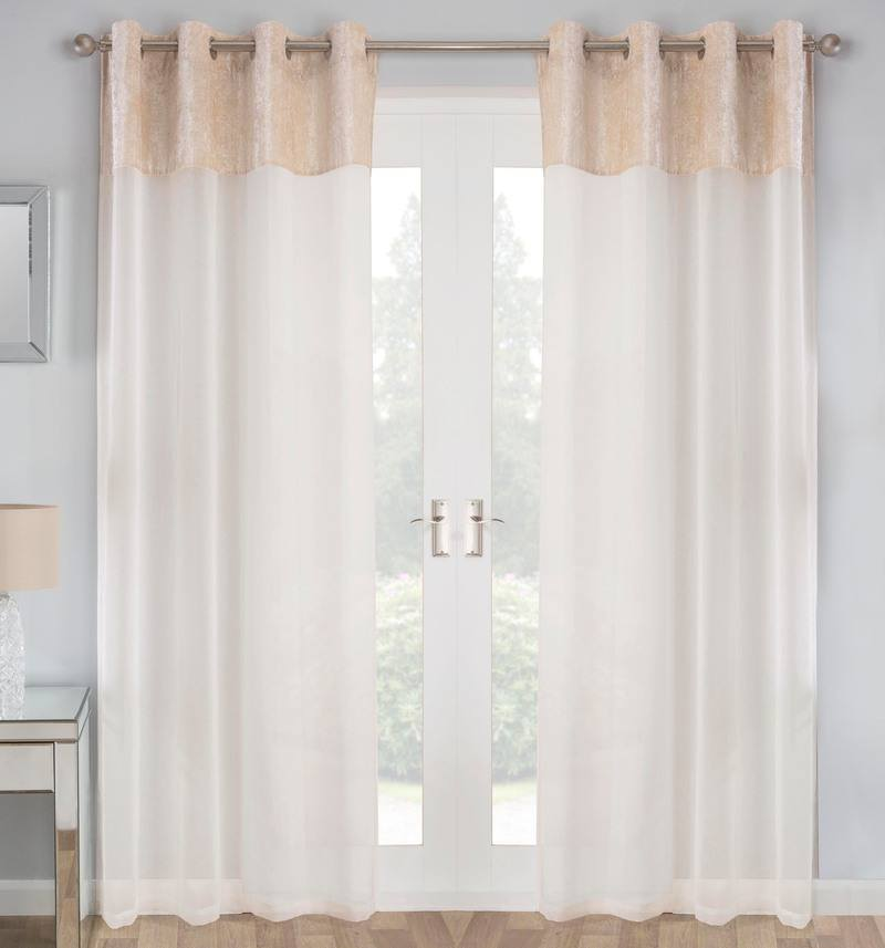 Tyrone Ready Made Curtains Liberty Ready Made Eyelet Voile Panel Natural Picture