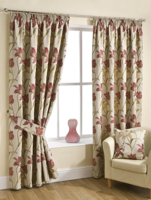 Lily Ready Made Lined Curtains Chintz
