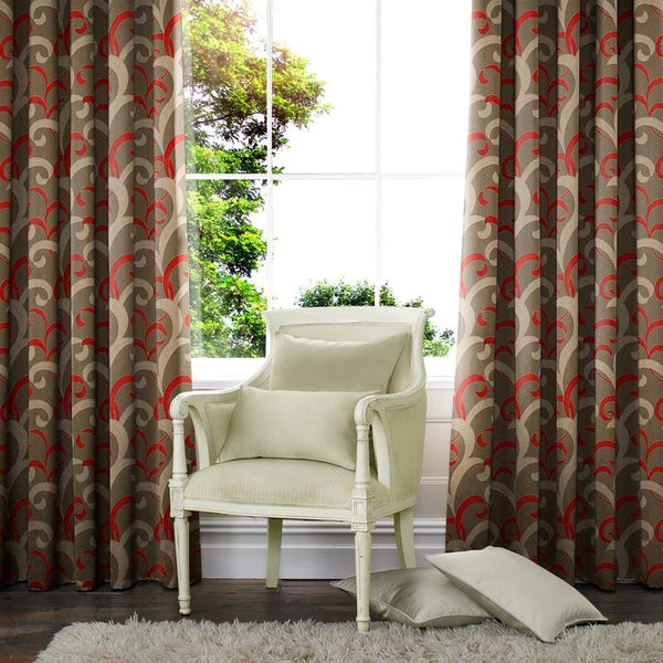 Lincoln Made to Measure Curtains Red