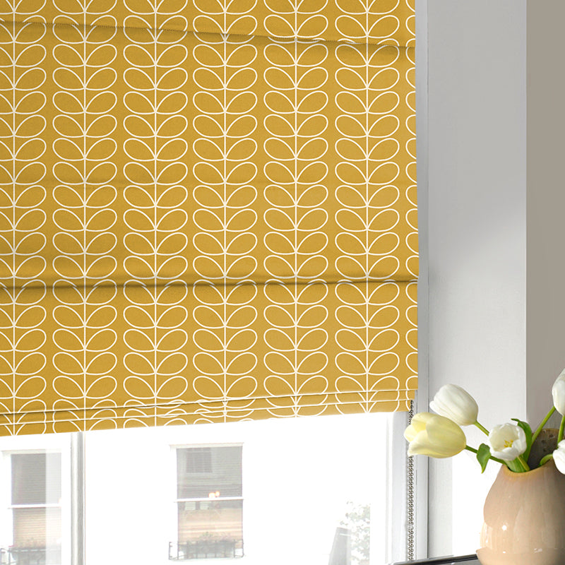 Illuminate Blinds Orla Kiely - Linear Stem Roman Blind Dandelion Picture