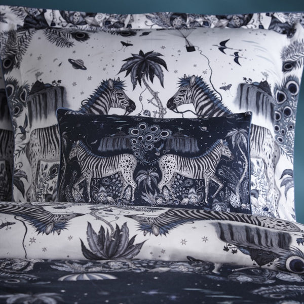 Emma Shipley Lost World Duvet Cover Navy and White