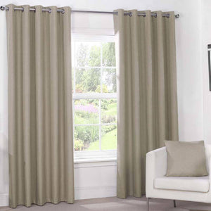 Julian Charles Luna Blackout Eyelet Curtains Mocha