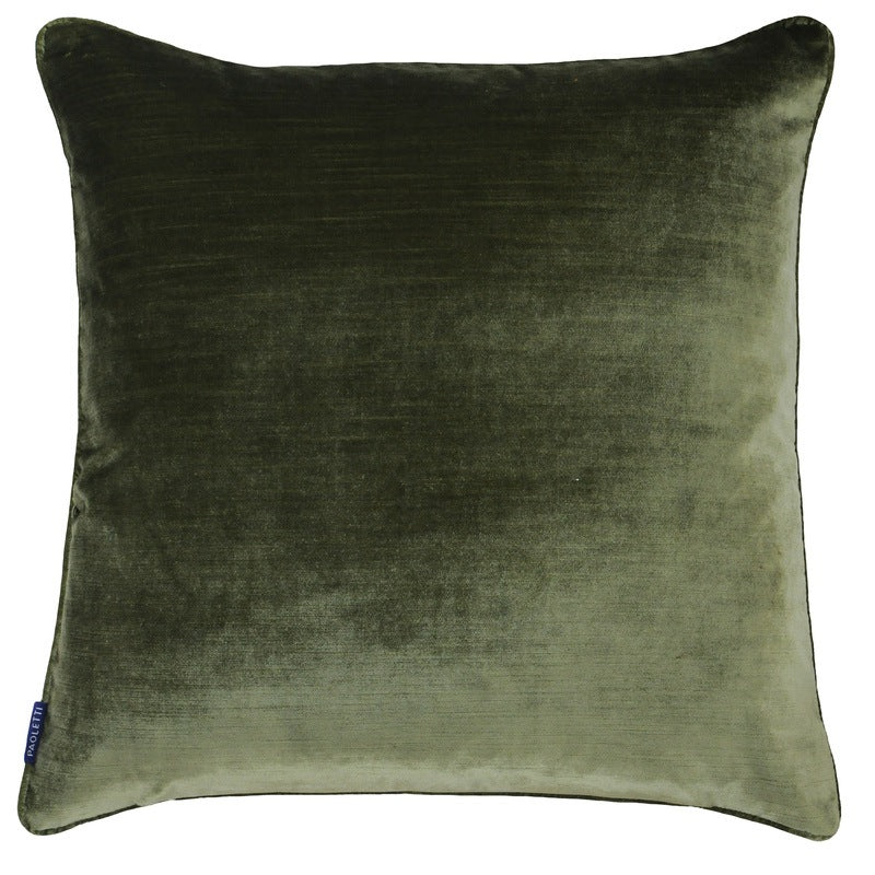 Riva Cushions And Throws Luxe C/cover Olive Picture