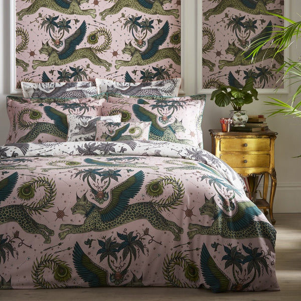 Emma Shipley Lynx Duvet Cover Blush and White
