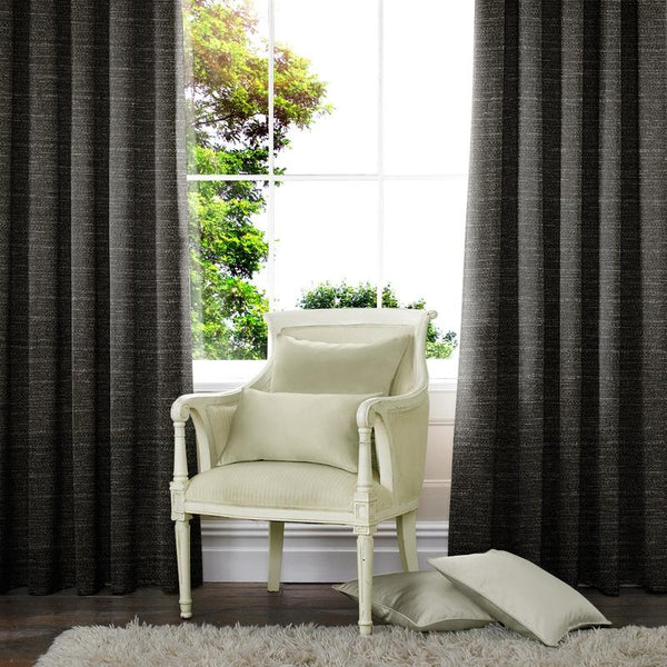 Raphia Made to Measure Curtains Slate