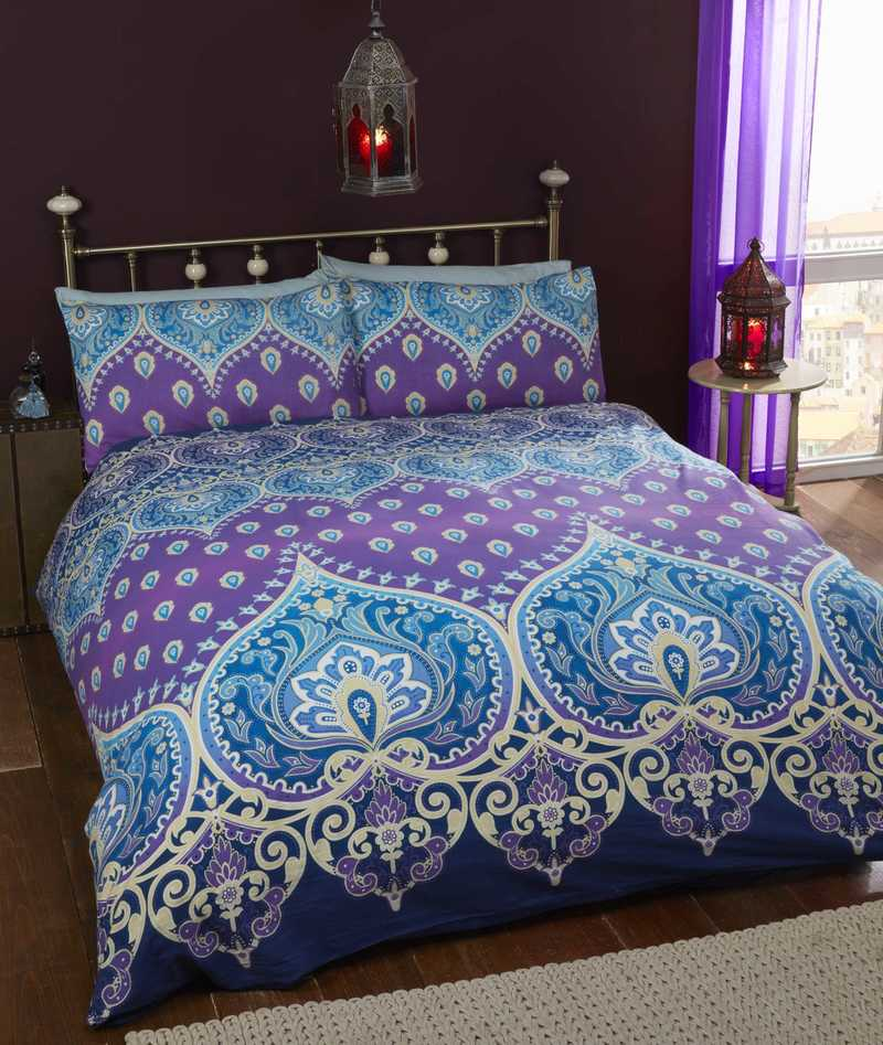 Rapport Homes Bedding Asha Bedding Sapphire Picture