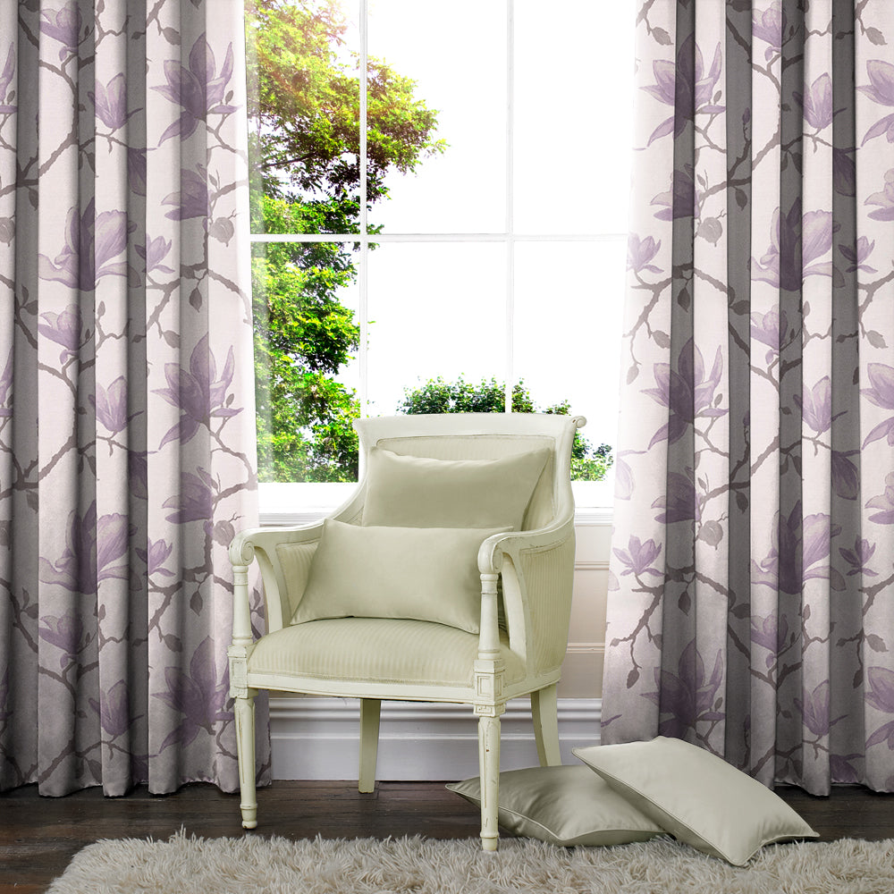 Belfields Made to Measure Curtains  Lucia Made to Measure Curtains Lilac