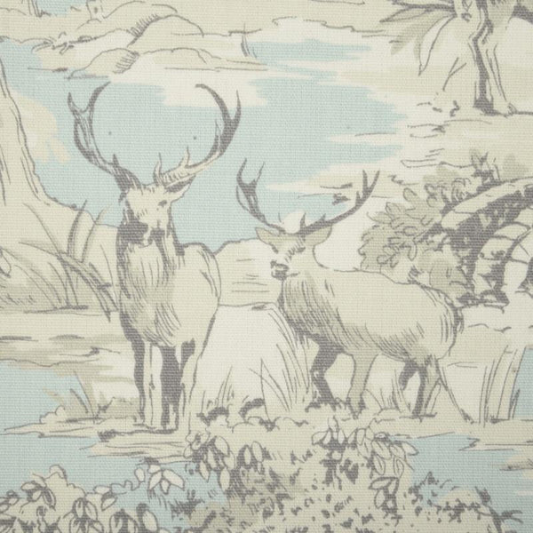 Manor Toile Curtain Fabric Mineral