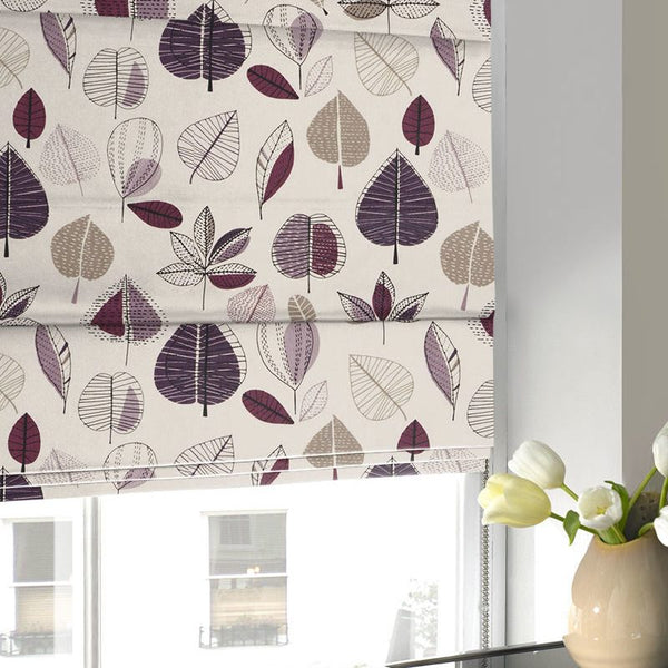 Maple Roman Blind Damson