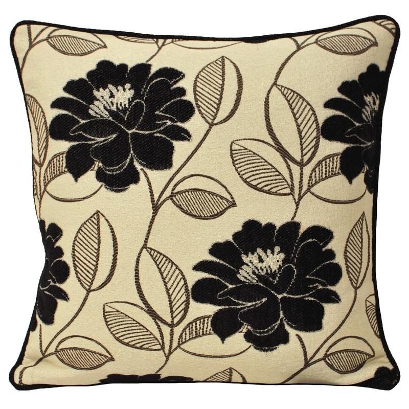 Riva Cushions And Throws Mayflower C/cover Black Picture