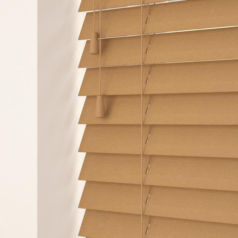 Decora Primary 35mm Primary Wood Venetian Blinds Medium Oak Picture