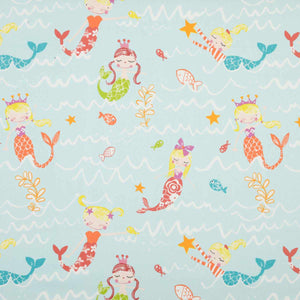 Mermaid Curtain Fabric Aqua