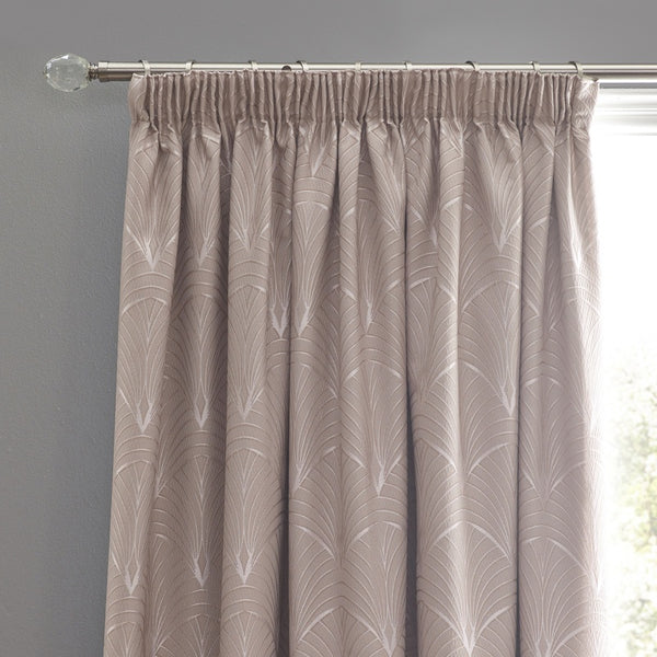 Metro Ready Made Lined Curtains Blush