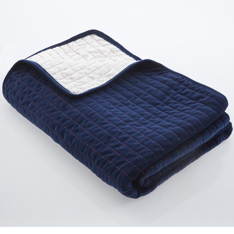 Clarke and Clarke Cushions and Throws  Oasis - Velvet Throw Midnight