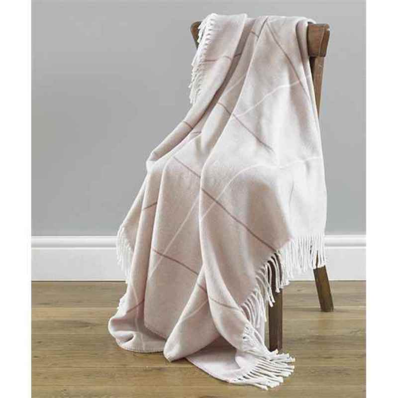 Beamfeature Cushions And Throws  Mirano Throw Blush