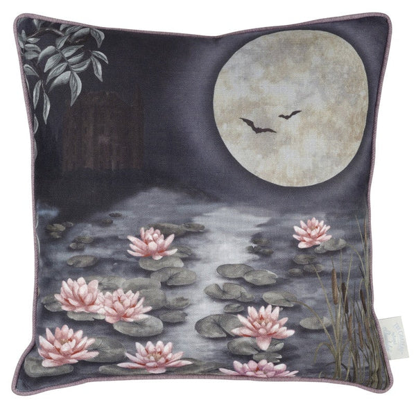 The Chateau Moonlit Lily Filled Cushion 45cm x 45cm Dusk