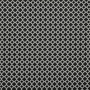 Morocco Curtain Fabric Black