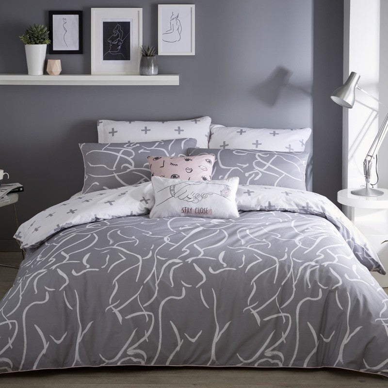 J Rosenthal Bedding Appletree - Muse Bedding Set Grey Picture
