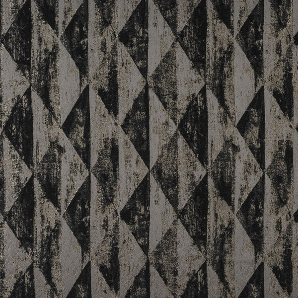 Mystique Curtain Fabric Charcoal