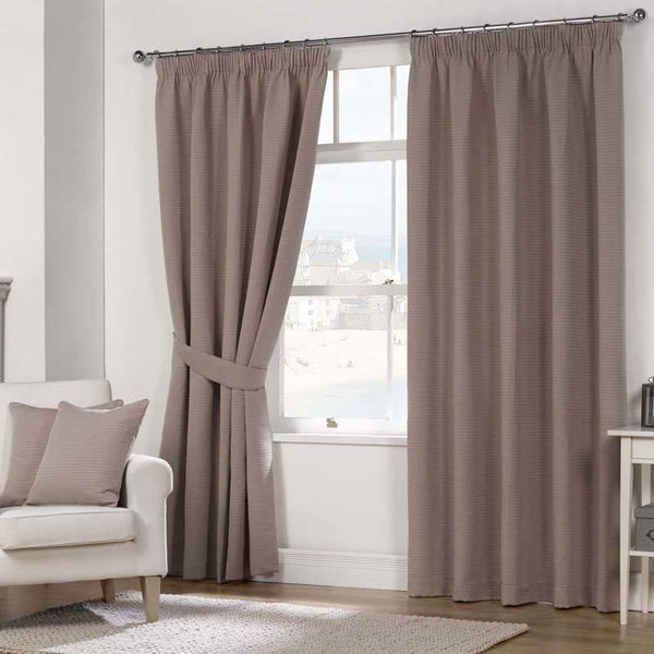 Julian Charles Naples Fully Lined Ready Made Curtains Mocha