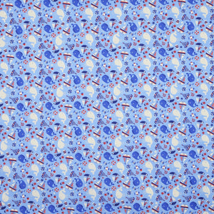 Nautilus Curtain Fabric Bleu