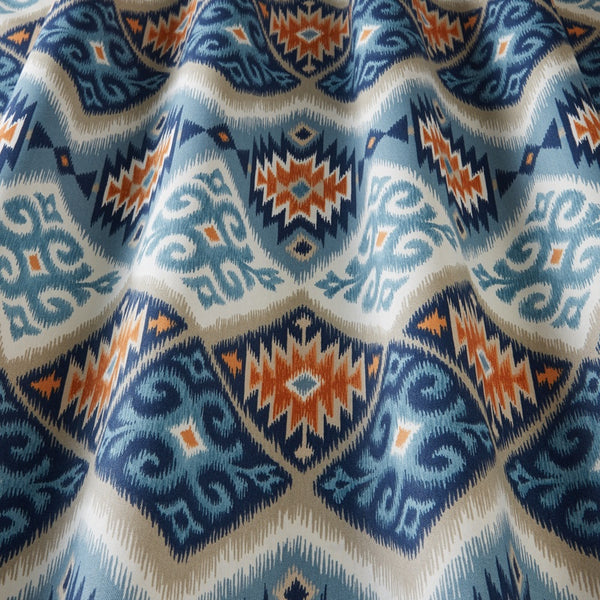 Navajo Curtain Fabric Teal
