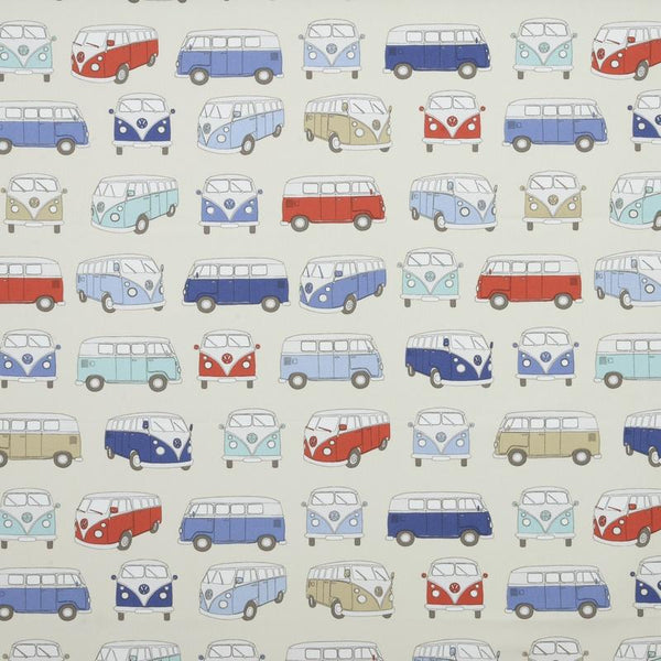 VW Campervan Curtain Fabric Blue