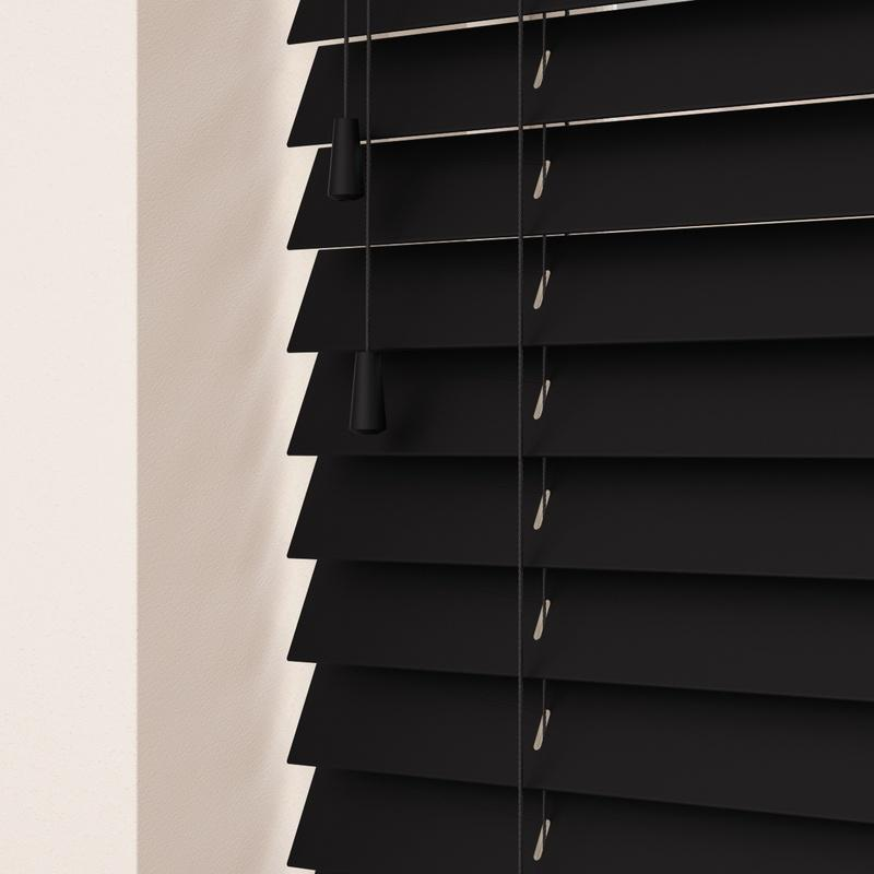 Decora Primary 50mm Primary Wood Venetian Blinds Noir Picture