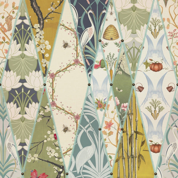 Nouveau Wallpaper Curtain Fabric Multi