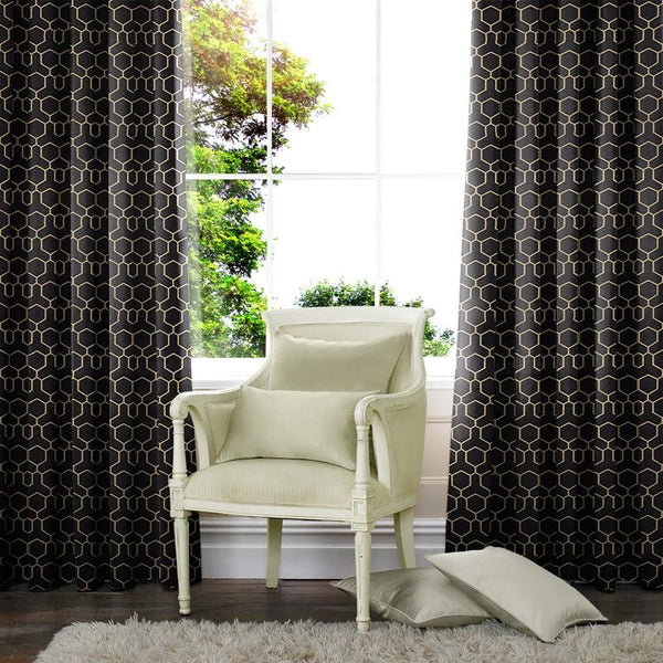 Oxy Made to Measure Curtains Black