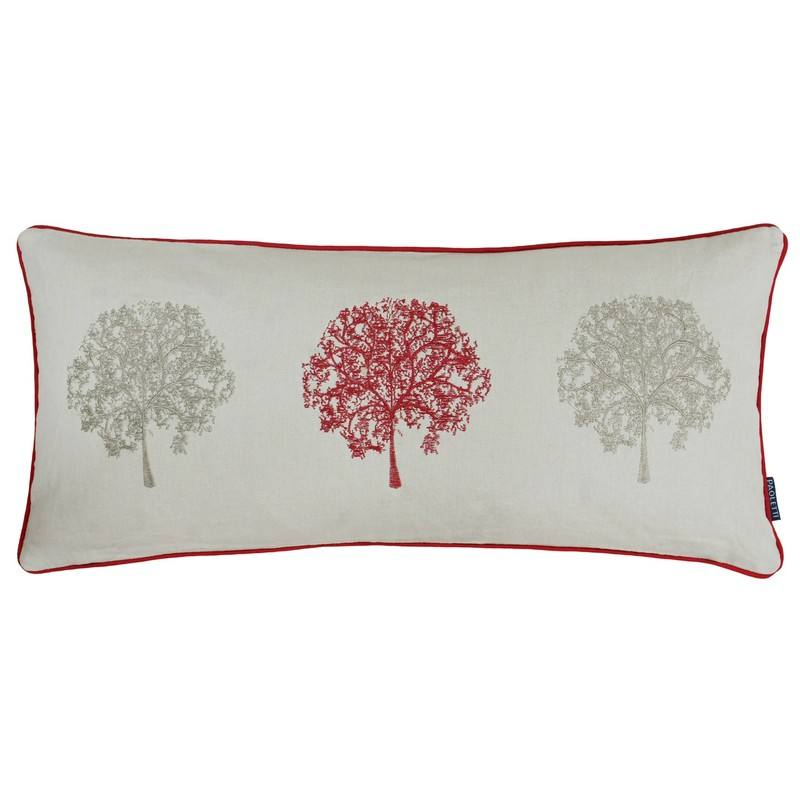 Riva Cushions And Throws Oakdale Filled Boudoir Cushion Red Picture