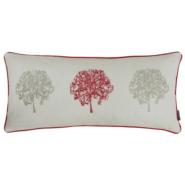 Oakdale Filled Boudoir Cushion Red