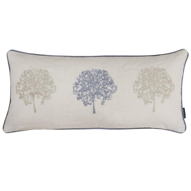 Riva Cushions And Throws Oakdale Filled Boudoir Cushion Silver Picture