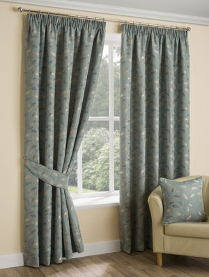 Oakley Ready Made Lined Curtains Duck Egg