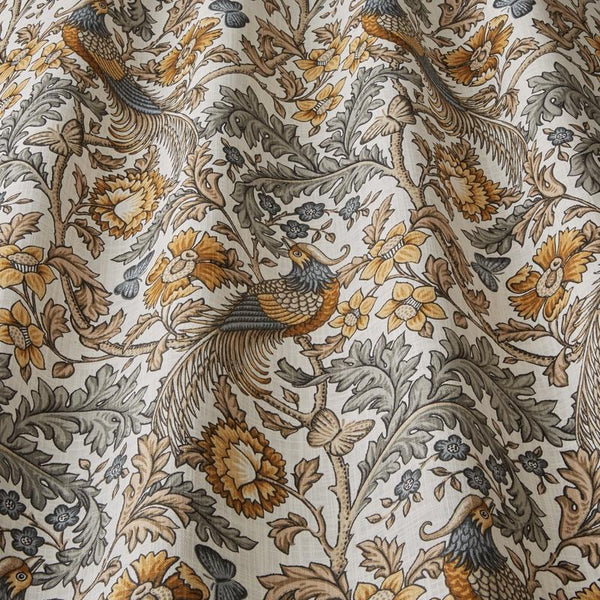 Oakmere Curtain Fabric Ochre