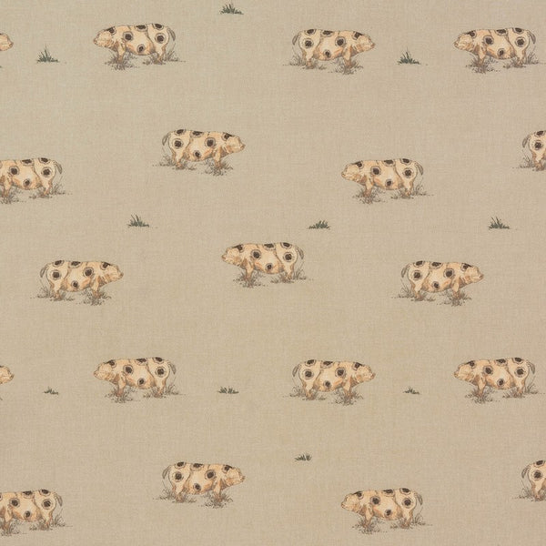 Old Spot  Curtain Fabric Natural