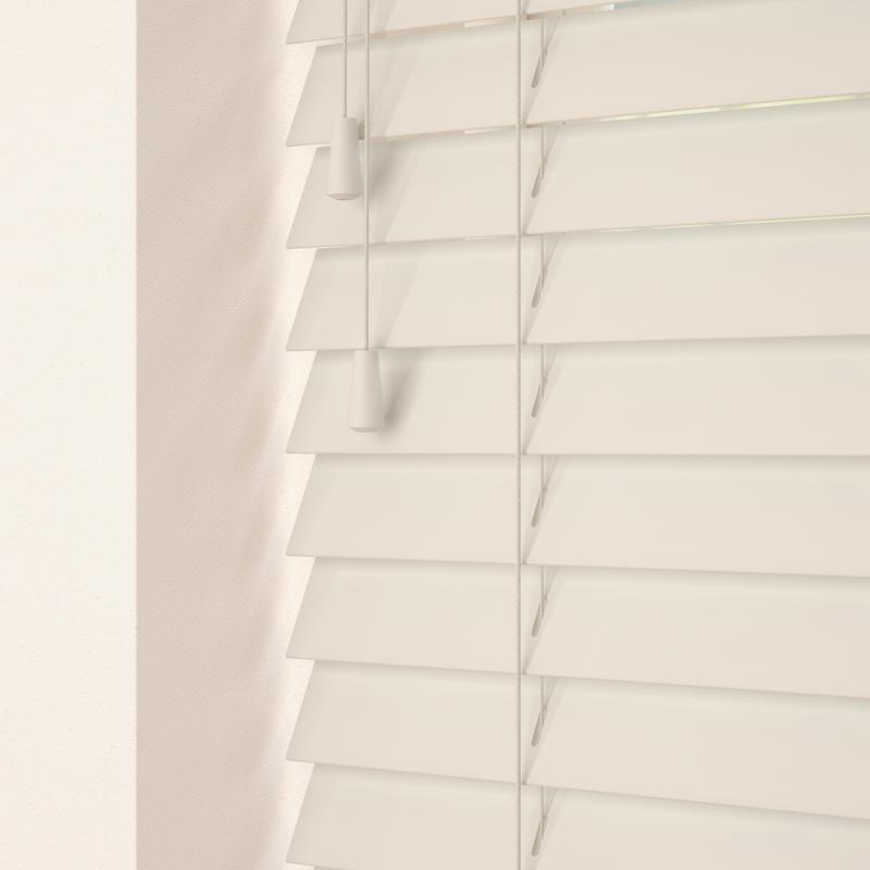 Decora Primary 50mm Primary Wood Venetian Blinds Old White Picture