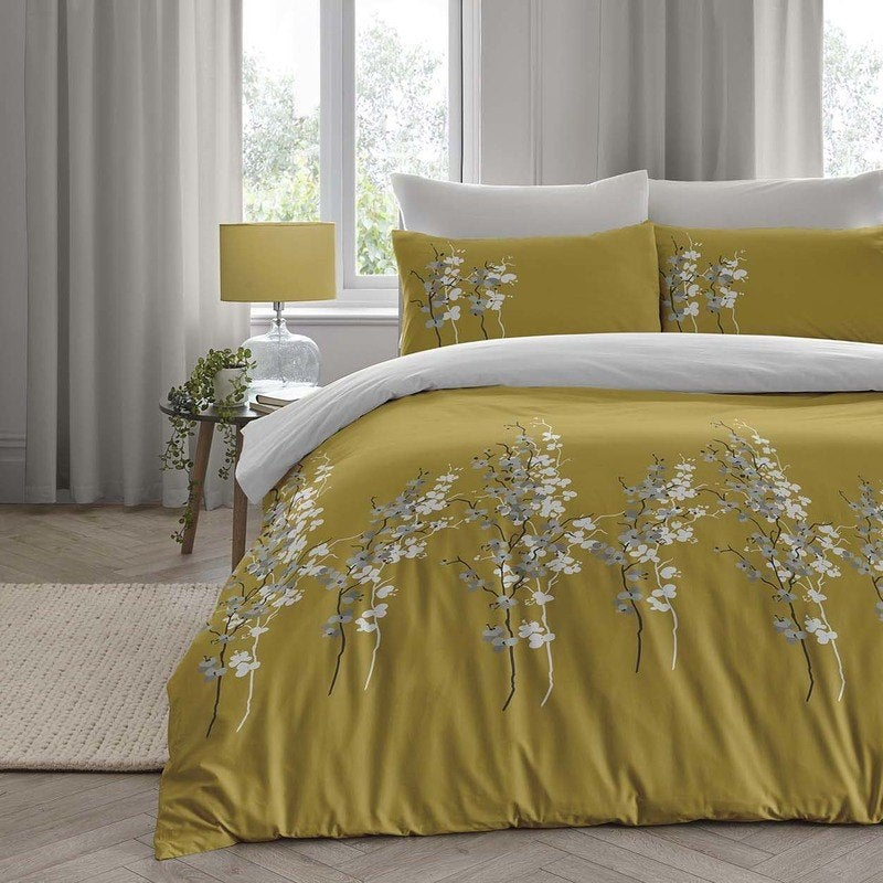 Click to view product details and reviews for Oriental Flower Bedding Set Ochre.
