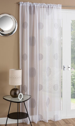 Orion Slot Top Voile Panel Grey