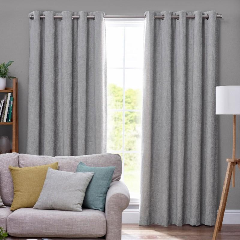 Belfields Ready Made Curtains Orkney Chenille Ready Made Eyelet Curtains  ... Picture