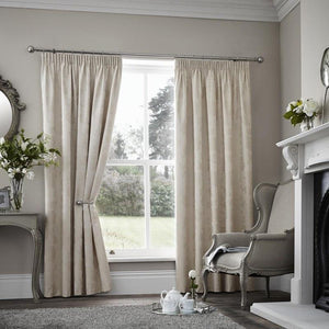 Palmero Scroll Thermal Blockout Curtains Cream