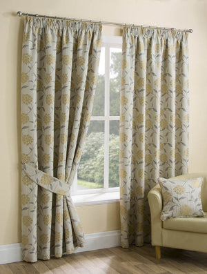 Paloma Ready Made Lined Curtains Ochre