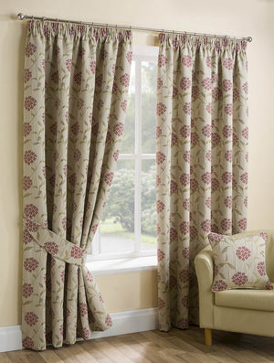 Paloma Ready Made Lined Curtains Red